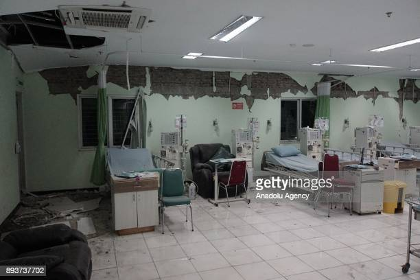 Damaged Banyumas hospital is seen in the quakedevastated area after an earthquake measuring 69 on the Richter Scale rocked Banyumas Central Java...