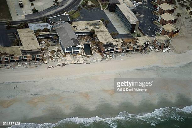 Damaged Beachside Buildings