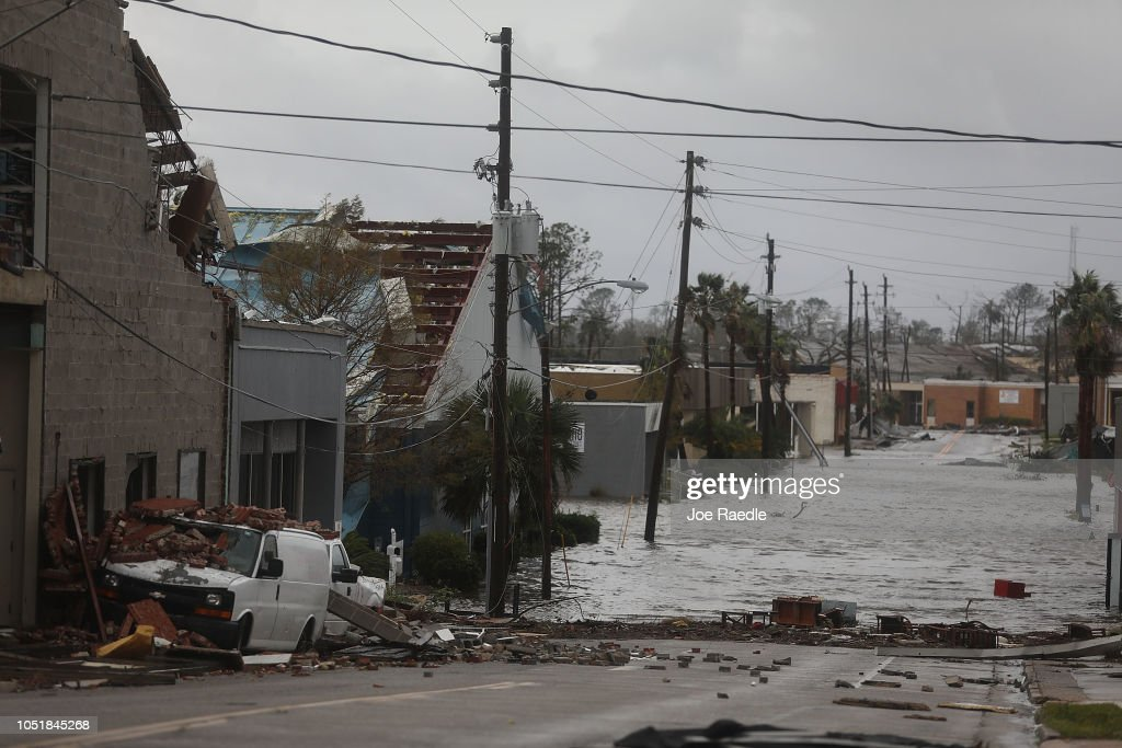Hurricane Michael Slams Into Florida's Panhandle Region : News Photo