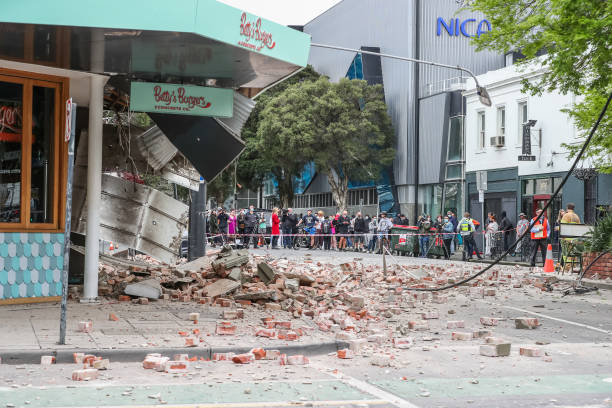 AUS: Buildings Damaged In Melbourne Following Earthquake Felt Across South Eastern Australia