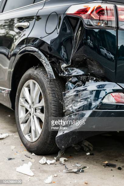 damaged bumper from car accident - bumper stock pictures, royalty-free photos & images