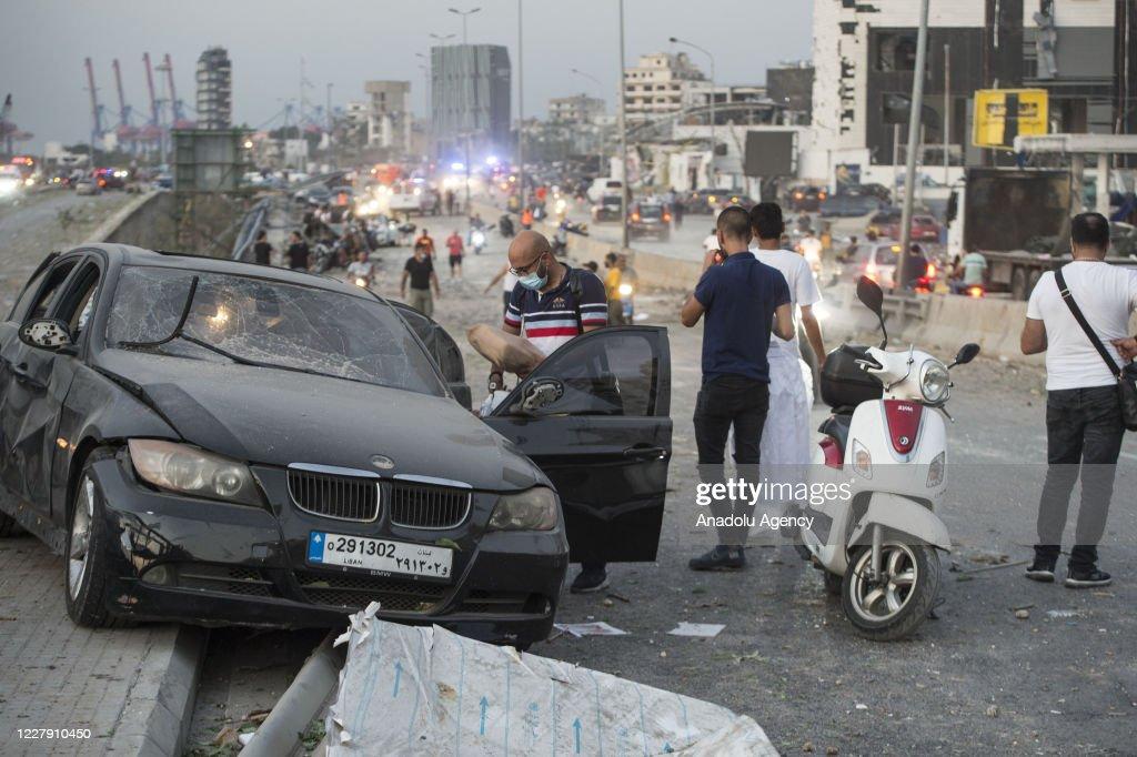 Massive explosions in Beirut, Lebanon : News Photo