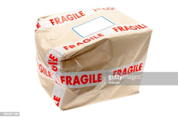 Danificado Caixa de Papelão que foi marcado Frágil