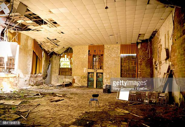 Damaged Classroom In Abandoned School Building