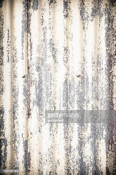 damaged corrugated metal background - corrugated iron stock photos and pictures