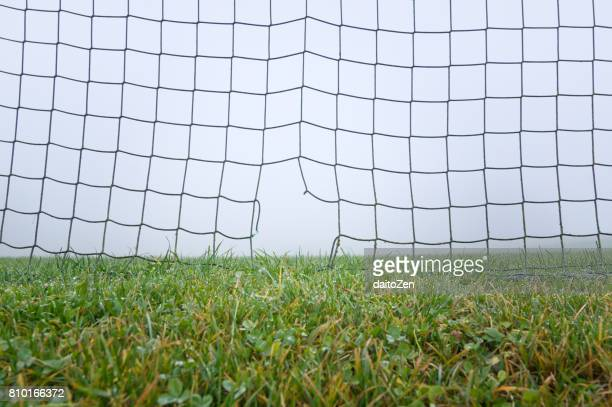 damaged football soccer goal - sports equipment stock pictures, royalty-free photos & images