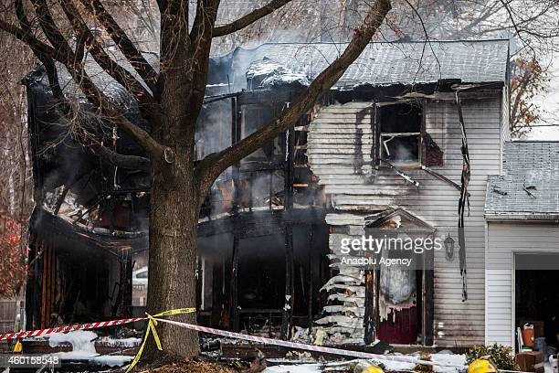 40 Small Plane Crashes Into Homes In Gaithersburg Usa