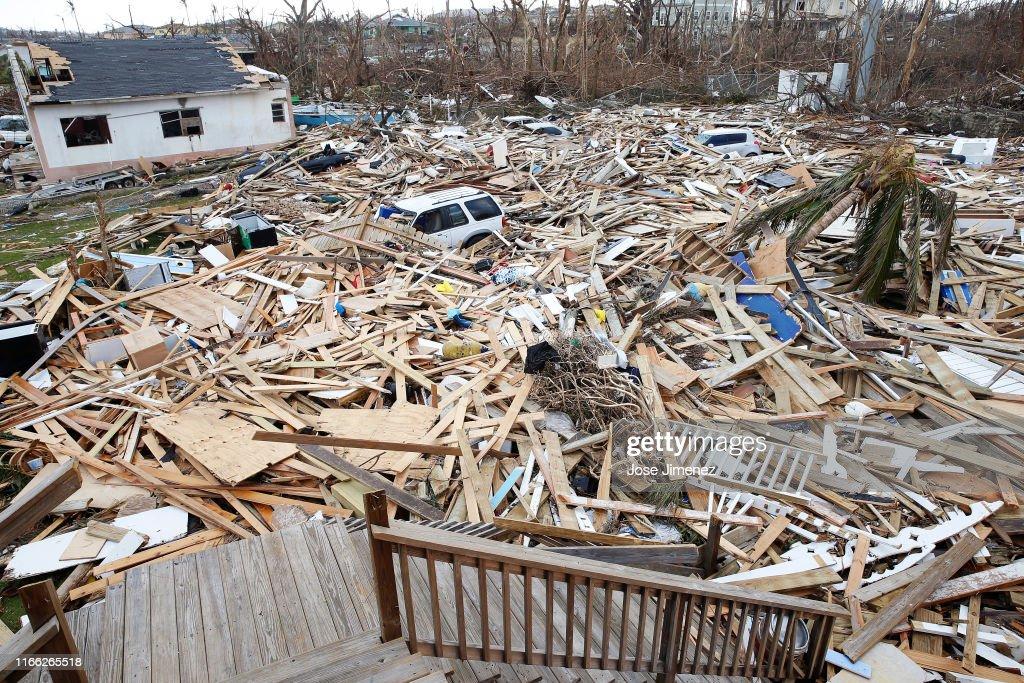 Hurricane Dorian Slams Into The Bahamas As Category 5 Storm : News Photo