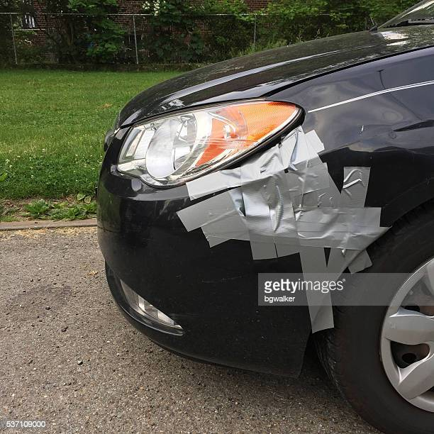 Damaged Hyundai with Duct Tape