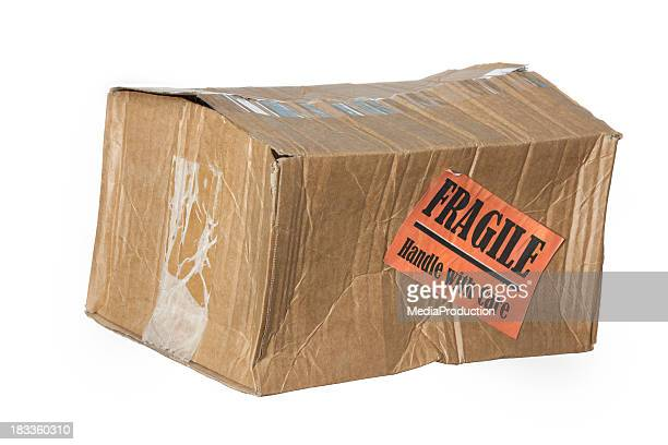 damaged parcel - fragile sign stock pictures, royalty-free photos & images