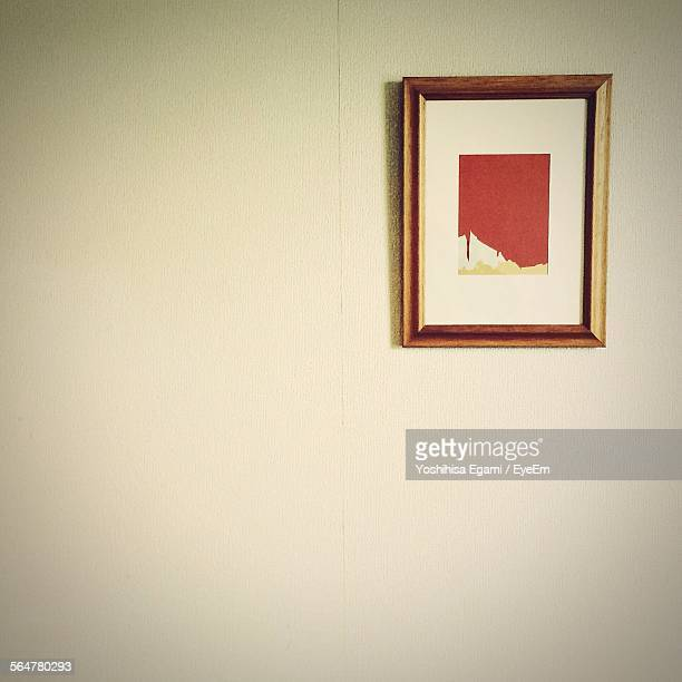 Damaged Picture Frame On Wall