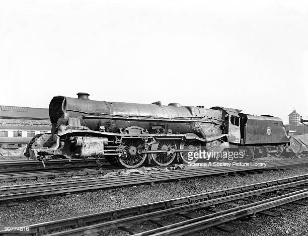 Damaged Princess Class 4-6-2 locomotive number 46202 �Princess Anne�. This locomotive was involved in an accident, which occurred at Harrow and...