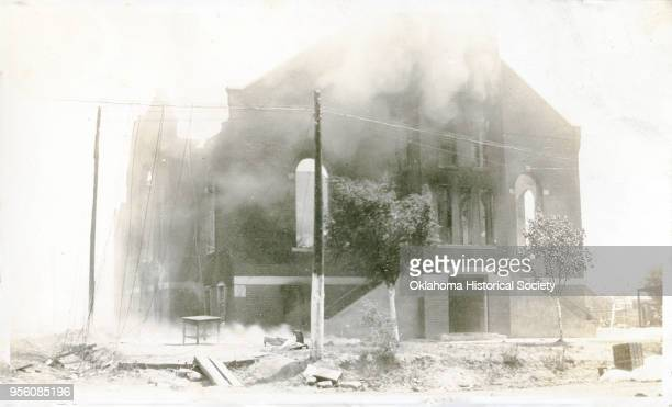Damaged property following the Tulsa Race Massacre, Tulsa, Oklahoma, June 1921.