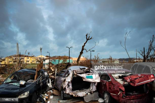 TOPSHOT Damaged property from Hurricane Dorian litters the ground on September 6 in Marsh Harbour Great Abaco The final death toll from Hurricane...