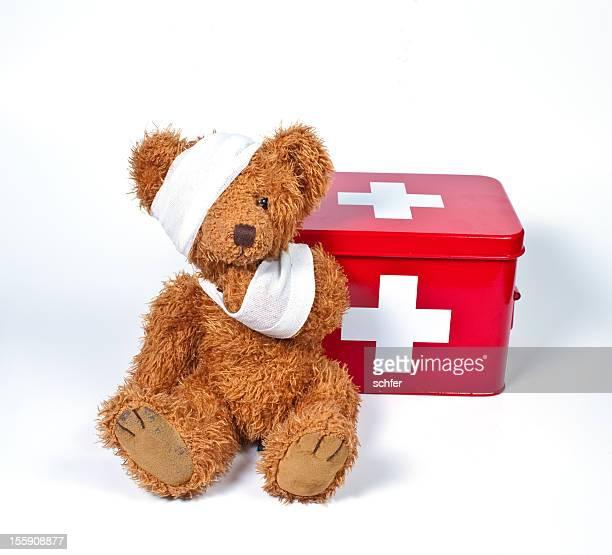 damaged teddybear