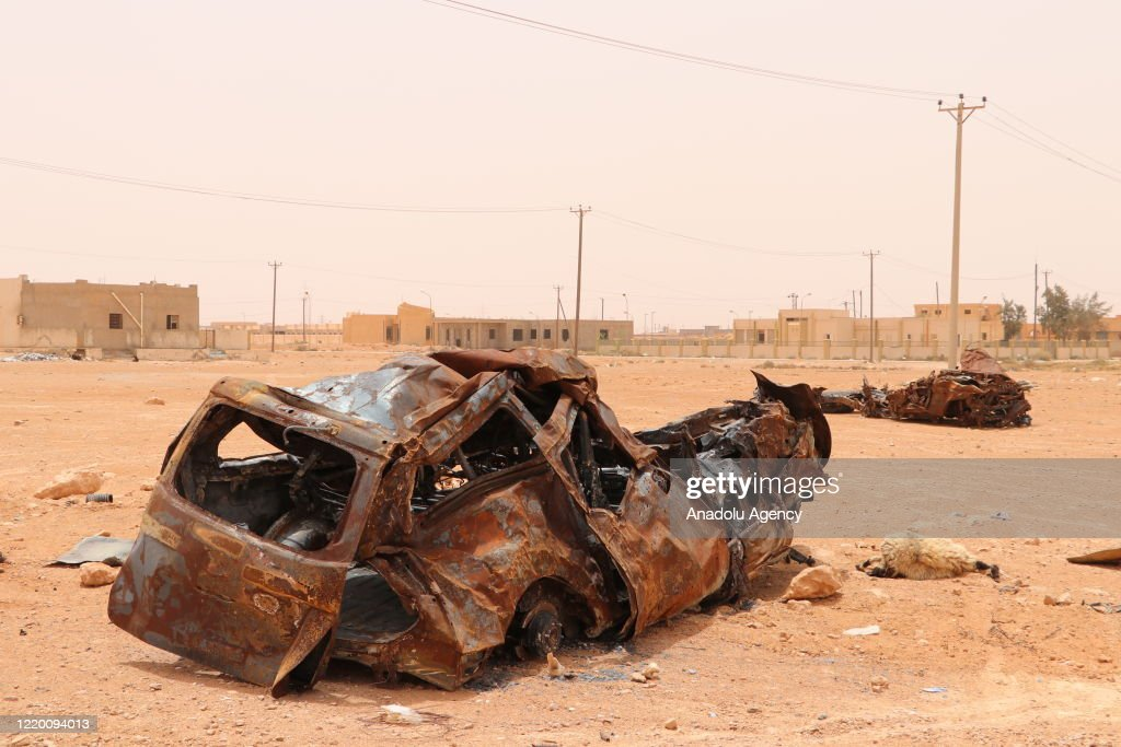 Libyan Army's preparations at Sirte front line : News Photo