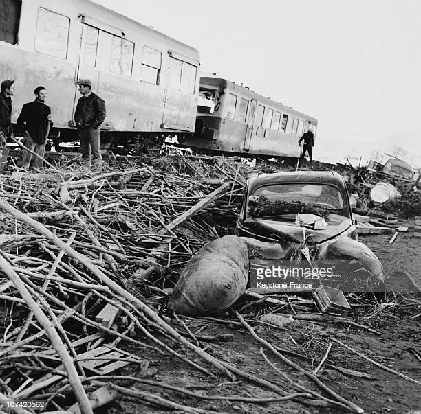Damages Caused By The Malpasset Dam Breaking At Freus In France On December 3Rd 1959