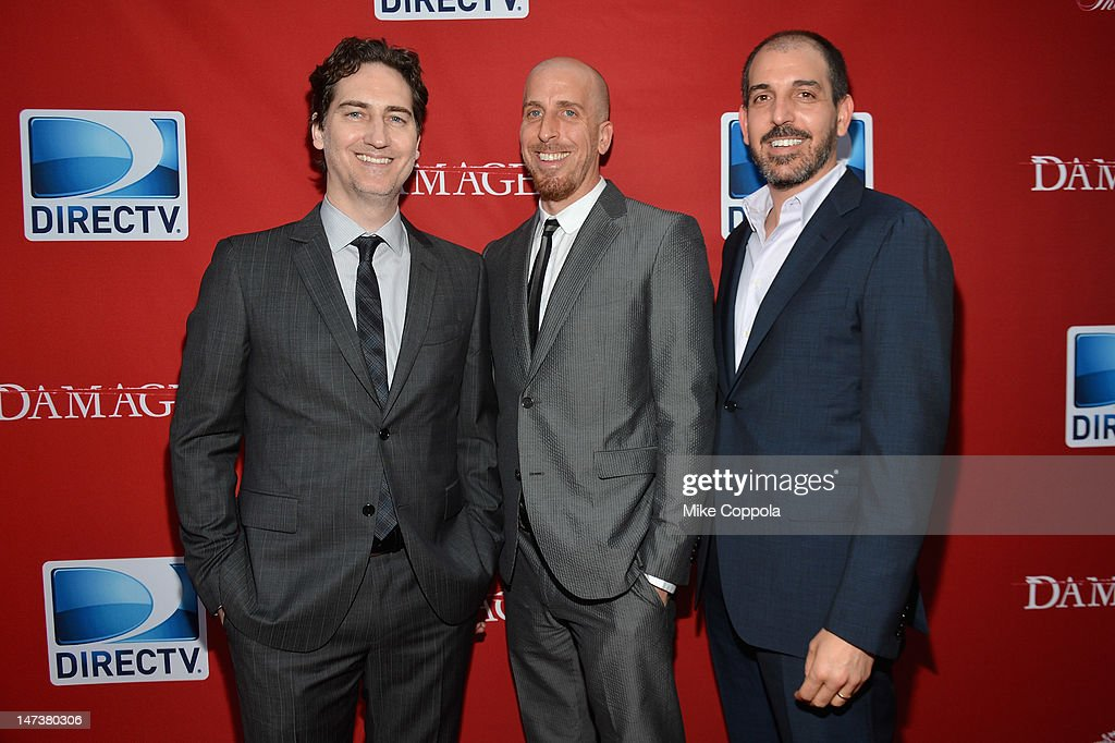 Damages Creator's and Executive Producers Daniel Zelman, Todd A. Kessler and Glenn Kessler attend The DIRECTV Premiere event for the fifth and Final Season of 'Damages' at The Oak Room on June 28, 2012 in New York City.