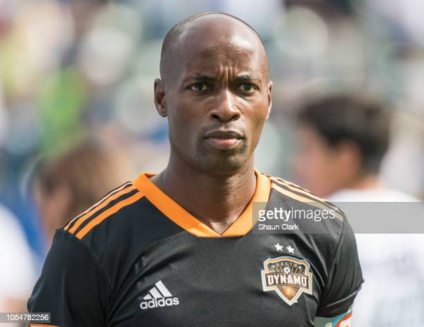 DaMarcus Beasley of Houston Dynamo prior to the Los Angeles Galaxy's MLS match against Houston Dynamo at the StubHub Center on October 28, 2018 in...