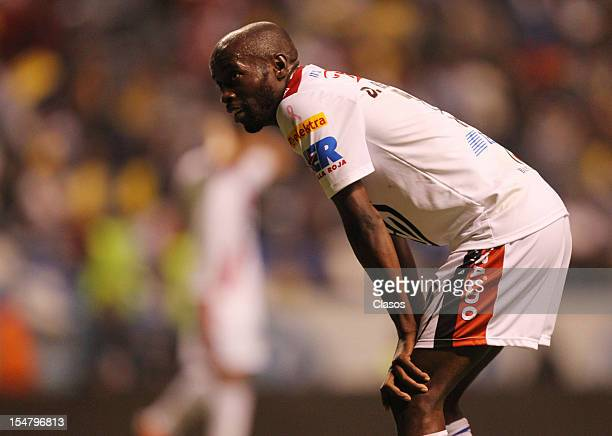 Damarcus Beasley of Puebla rests during a match between Puebla v America as part of the Apertura 2012 Liga Mx at Cuauhtemoc Stadium on Octuber 25,...