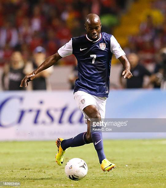 DaMarcus Beasley of the United States against Costa Rica during the FIFA 2014 World Cup Qualifier at Estadio Nacional on September 6, 2013 in San...