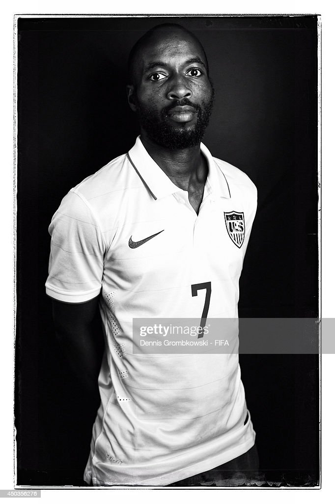 DaMarcus Beasley of the United States poses during the Official FIFA World Cup 2014 portrait session on June 9, 2014 in Sao Paulo, Brazil.