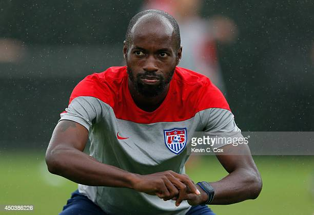 DaMarcus Beasley of the United States works during their training session at Sao Paulo FC on June 10, 2014 in Sao Paulo, Brazil.