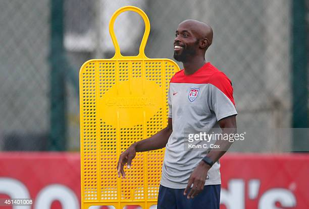 DaMarcus Beasley of the United States works out during training at Sao Paulo FC on June 28, 2014 in Sao Paulo, Brazil.