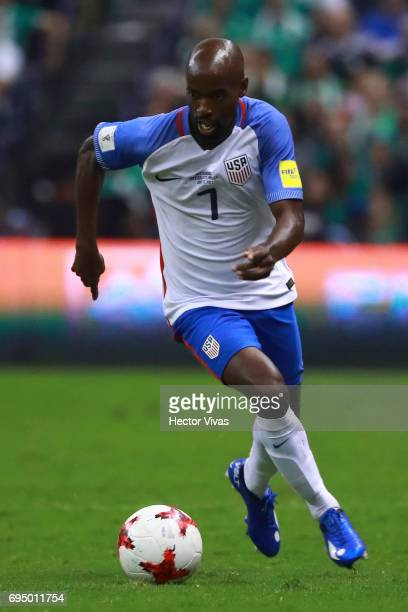 Damarcus Beasly of US drives the ball during the match between Mexico and The United States as part of the FIFA 2018 World Cup Qualifiers at Azteca...