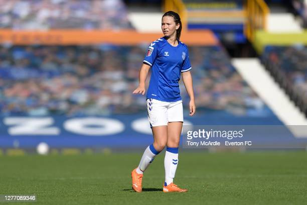 Damaris Egurrola of Everton Women during the Women's FA Cup Quarter Final match between Everton and Chelsea at Goodison Park on September 27 2020 in...