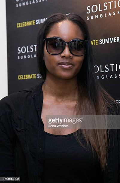 Damaris Lewis attends Solstice Sunglasses Annual Summer Soiree In Flatiron at Solstice Sunglass Boutique on June 19 2013 in New York City