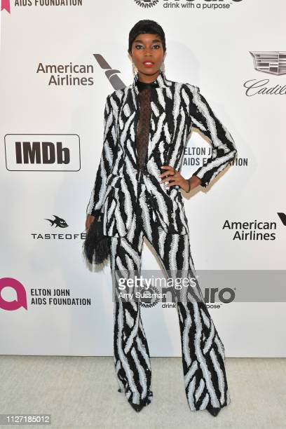 Damaris Lewis attends the 27th annual Elton John AIDS Foundation Academy Awards Viewing Party celebrating EJAF and the 91st Academy Awards on...