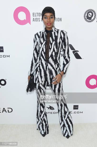 Damaris Lewis attends the 27th annual Elton John AIDS Foundation Academy Awards Viewing Party sponsored by IMDb and Neuro Drinks celebrating EJAF and...