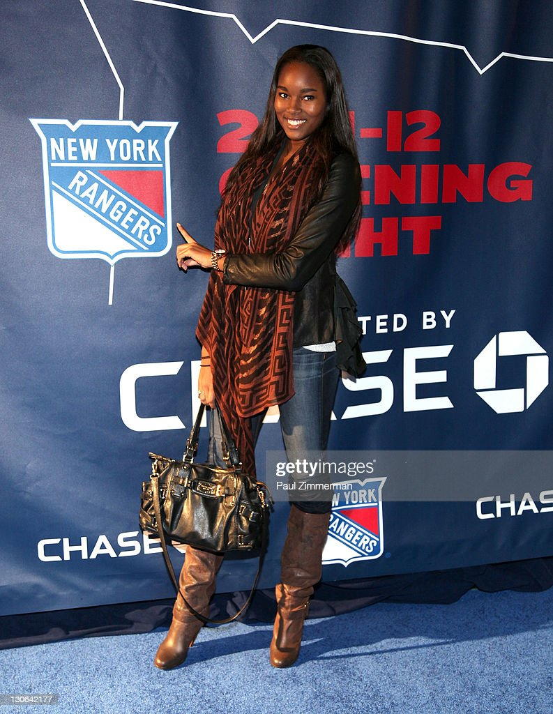 Damaris Lewis attends the New York Rangers home opener at Madison Square Garden on October 27, 2011 in New York City.
