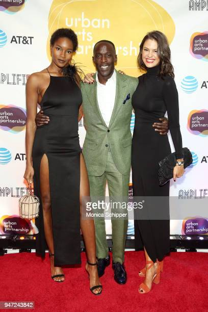 Damaris Lewis Michael Kenneth Williams and Dominique Piek attend the Urban Arts Partnership's AmplifiED Gala at The Ziegfeld Ballroom on April 16...