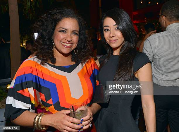 Damarys Ocana Executive Editor at Latina Magazine and actress Aimee Garcia attends Latina Magazine's 'Hollywood Hot List' party at The Redbury Hotel...