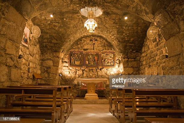 damascus - ananias chapel - damascus stock pictures, royalty-free photos & images