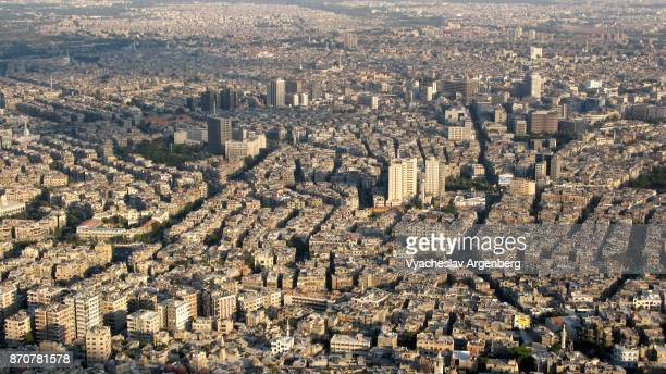 damascus city center at sunset time - damascus stock pictures, royalty-free photos & images