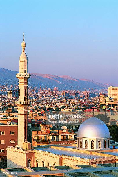 damascus cityscape - damascus stock pictures, royalty-free photos & images