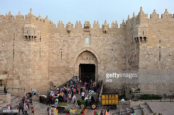 Damascus Gate, in Hebrew Sha'ar Sh'khem, is one of the main entrances to the Old City. Located on the city's northwest side,the gate was built in...