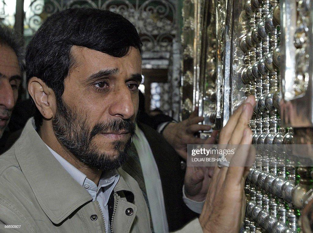 Iranian President Mahmoud Ahmadinejad pr : News Photo