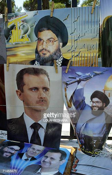Posters of Syrian President Bashar AlAssad and Hezbollah leader Hassan Nasrallah are on sale in Damascus 15 July 2006 The ruling Baath party in Syria...
