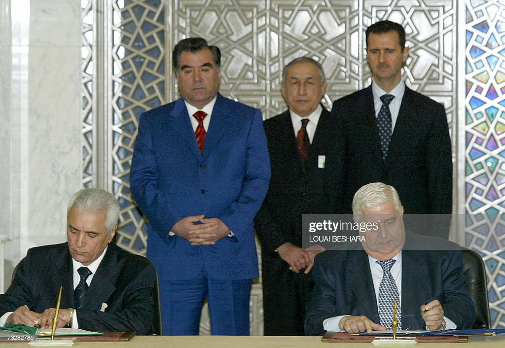 Syrian Foreign Minister Walid Muallem L Pictures Getty Images
