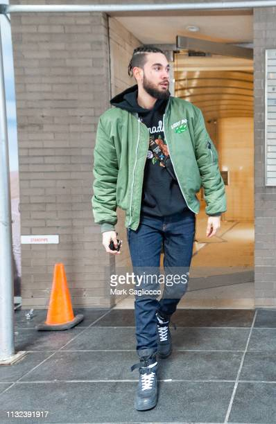 Damaskus Ortiz is sighted leaving a recording studio on February 26 2019 in New York City