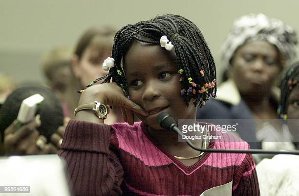 Damba Koroma testifies before the International Relations Committee hearing on the impact of the Sierra Leone conflict on children who were victoms...