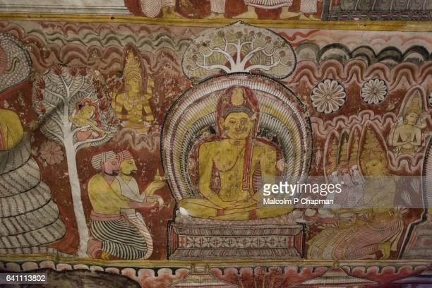 Dambulla Buddhist cave Temples also known at the Golden Temple of Dambulla, Sri Lanka