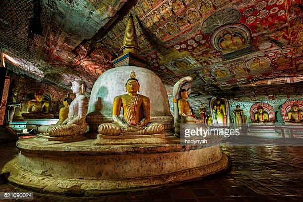 dambulla cave temple - buddha statues, sri lanka - buddhism stock pictures, royalty-free photos & images