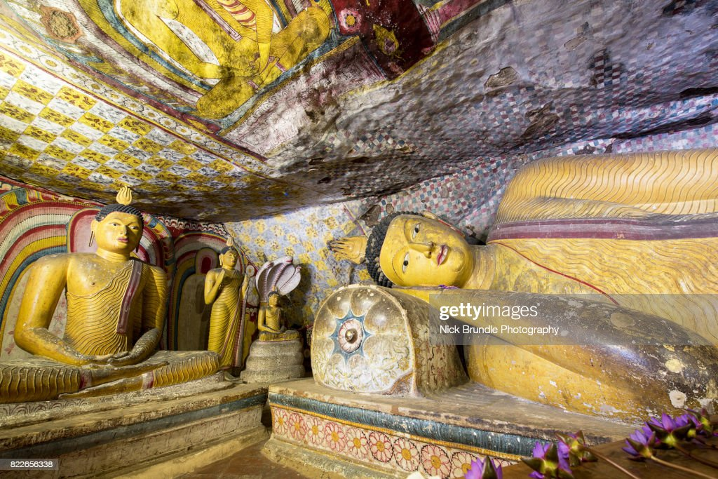Dambulla cave temple - Buddha statues, Sri Lanka : Stock Photo