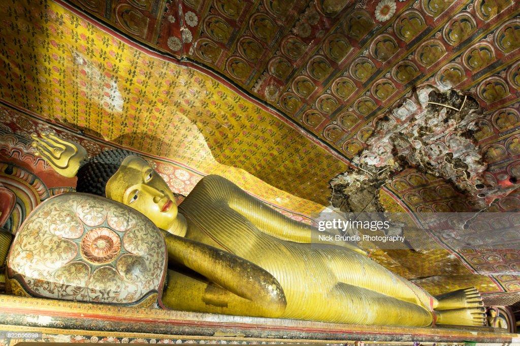 Dambulla cave temple - Buddha statues, Sri Lanka : Stock Photo