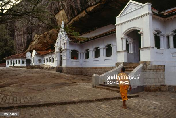 Dambulla cave temple or Golden Temple of Dambulla Sri Lanka 18th century